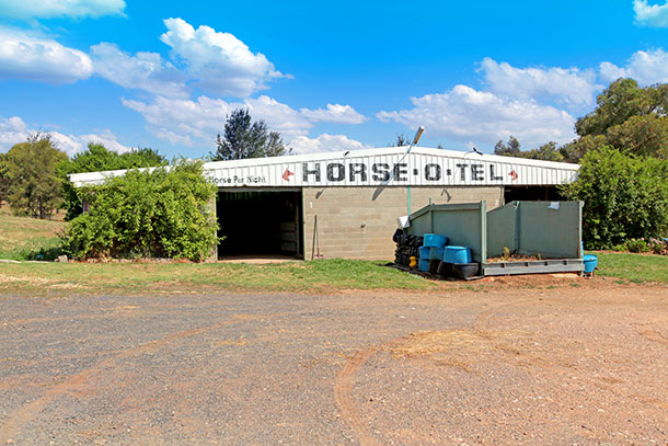 Tarcutta Half Way Inn offers full stable facilities